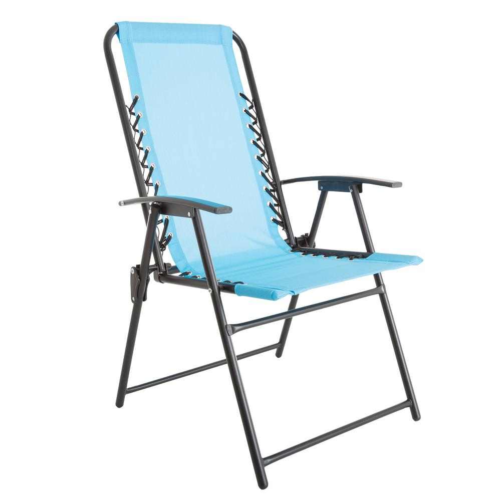 Pure Garden Patio Lawn Chair In Blue Folding Chair Outdoor