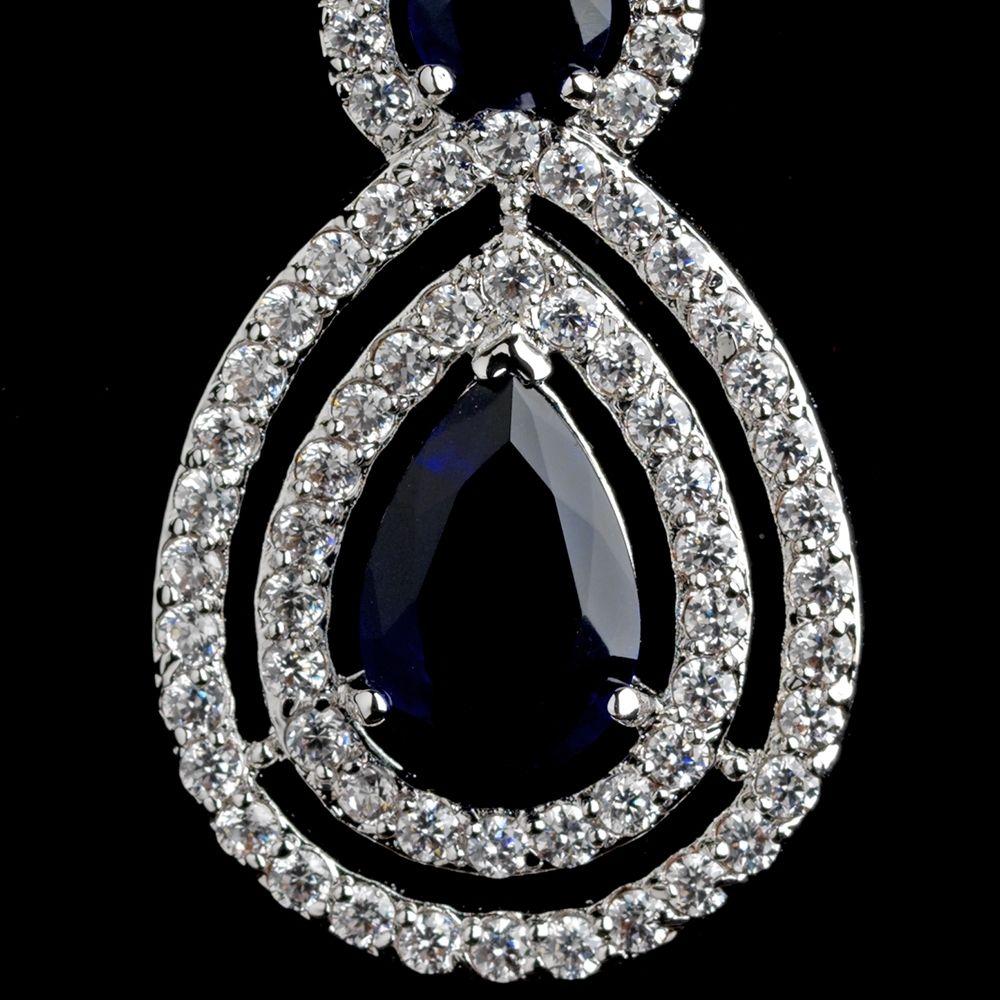 Affordable Elegance Bridal - Sapphire Blue CZ Dangle Wedding Earrings, $87.99 (http://www.affordableelegancebridal.com/sapphire-blue-cz-dangle-wedding-earrings/)
