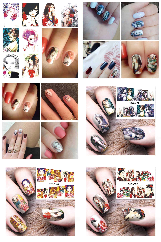 Visit to Buy] ZKO 1 Sheet Optional Harajuku Designs DIY Decals Nails ...