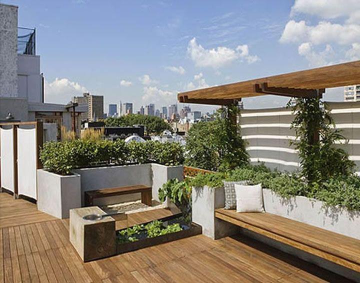 Terrazas en azotea interiorismo interior design 12 for Terrazas en azoteas