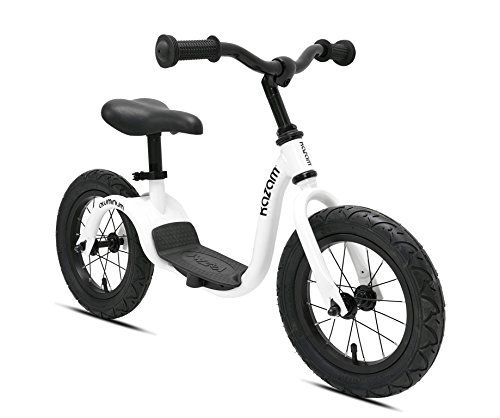 Kazam Alloy No Pedal Balance Bike 12 Inch Pearl White Dengan