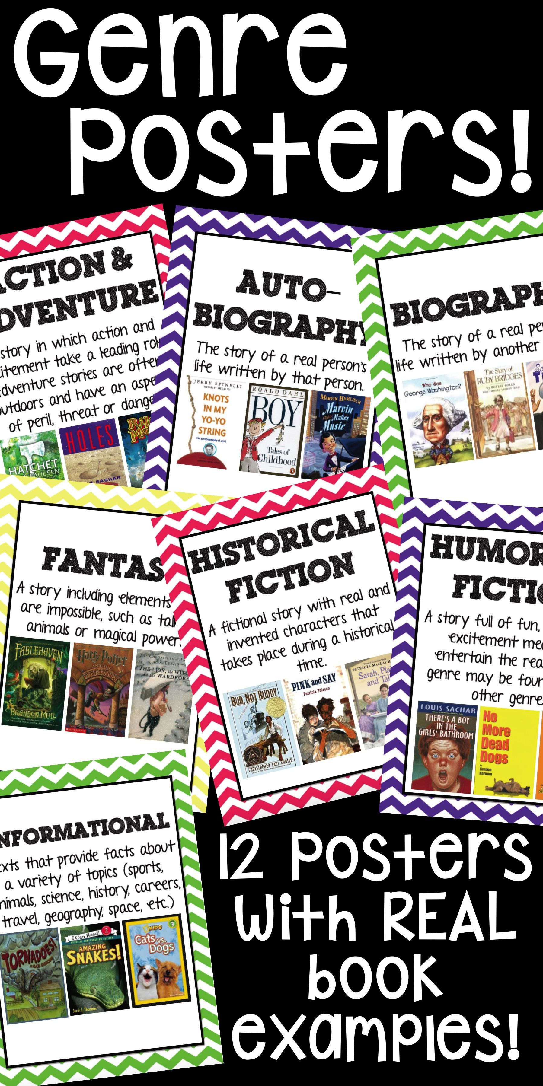 Genre Posters A Teacher Reading Pinterest Genre Posters