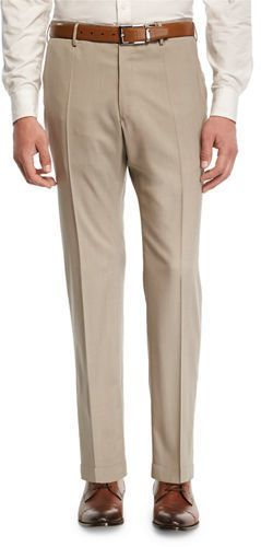 Incotex Super 150s Wool Flat-Front Trousers