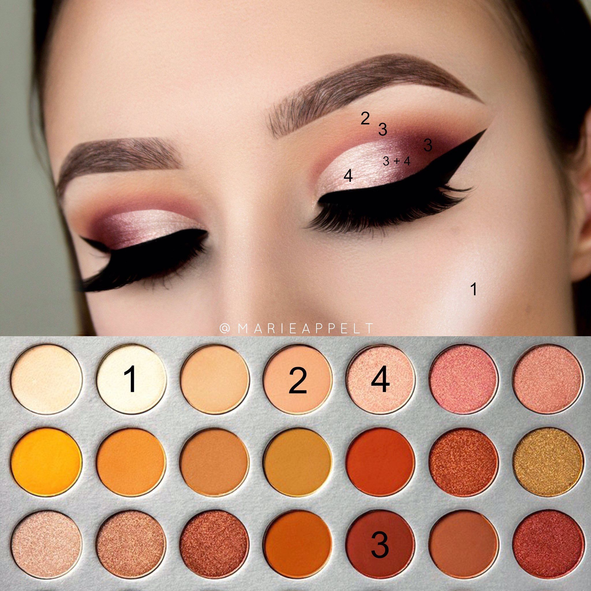 Pin by jessica buss on glam glitter glow looks pinterest morphe x jaclyn hill palette pictorial makeup tutorial look easy how to insta marie baditri Image collections