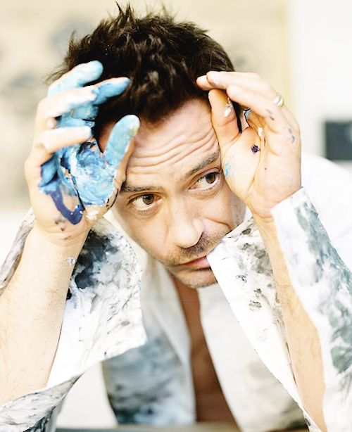 ♠ Robert Downey JR. Pintor¡¡¡  BELLO <3