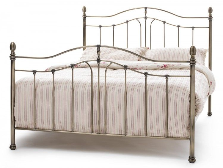 Serene Camilla Antique Brass Metal Bed Frame Master Bedroom