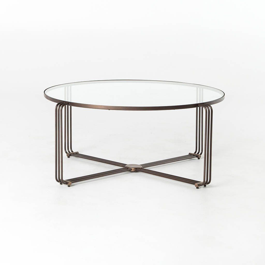 The Unique Design Of The London Coffee Table Leaves An Airy Feeling With A Glass Top Round Glass Coffee Table Living Room Living Room Coffee Table Coffee Table [ 1024 x 1024 Pixel ]