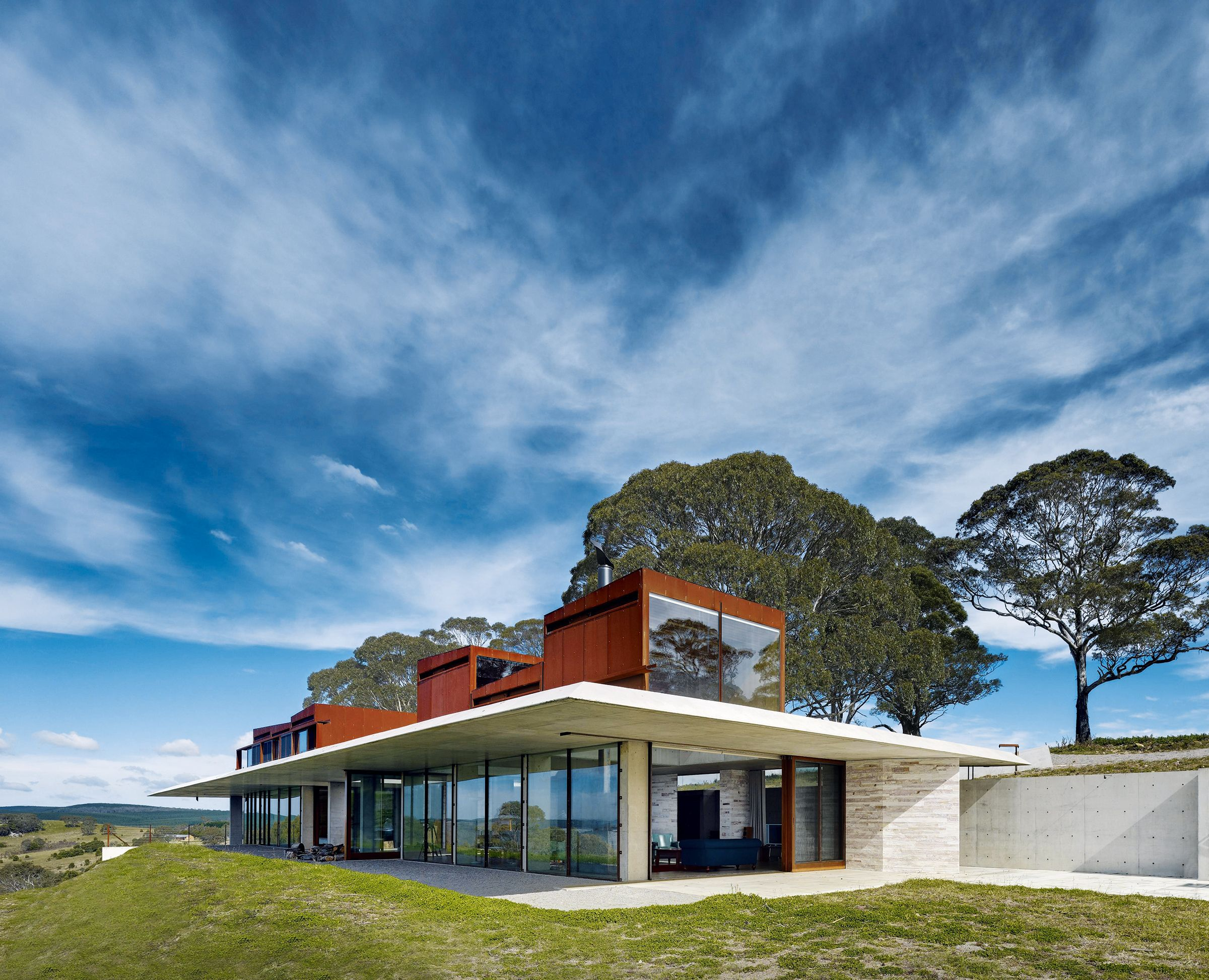 Calgary modern luxury home design residential designer mountain - Clad Homes With Contemporary Lan