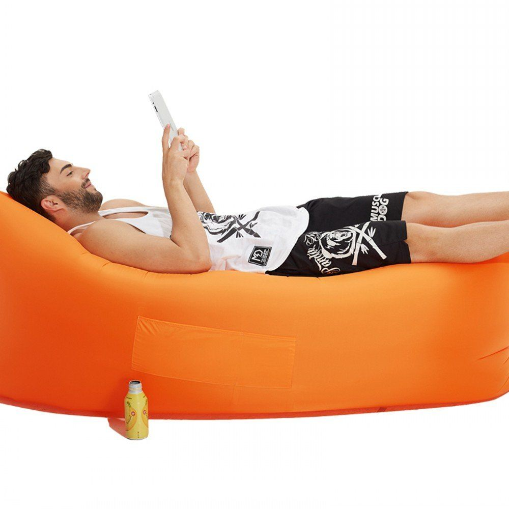 Hebensi Inflatable Hammock Lounger Air Sofa Hangout Couch Lounger Bag With Carrying Bag Waterproof Nylo Inflatable Sofa Bed Bean Bag Chair Kids Inflatable Sofa