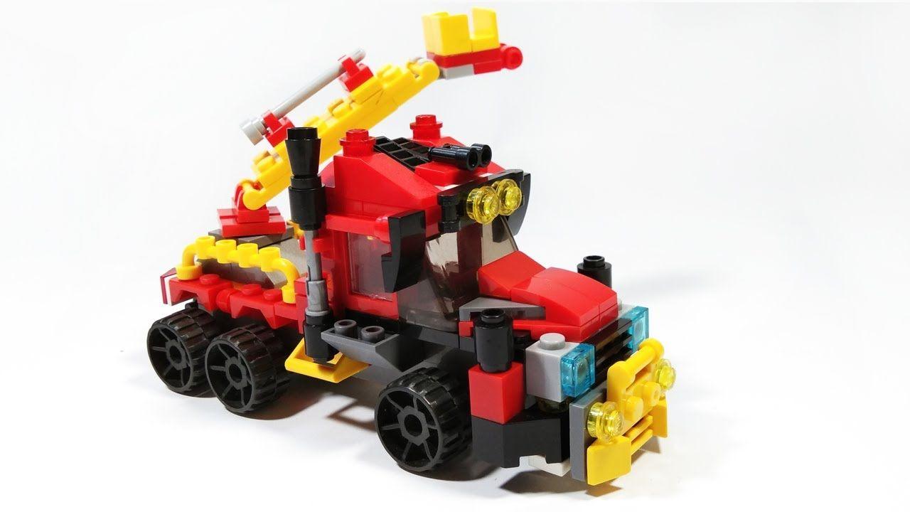 Lego Fire Truck Rescue Tutorial Lego Creator City Building Block Truk Pemadam Kebakaran Lego Mainan