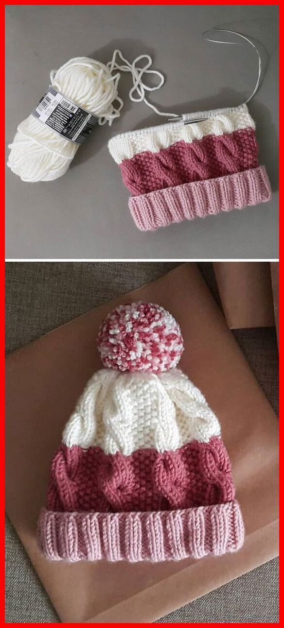 Photo of Cozy Cable Knit Hat – Free Pattern – Knitting is as easy as 1, 2, 3 Das Str … | Trends iDeas