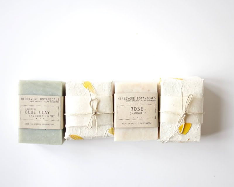 Gorgeous and crafty soaps by Herbivore Botanicals via Soap Is Beautiful.