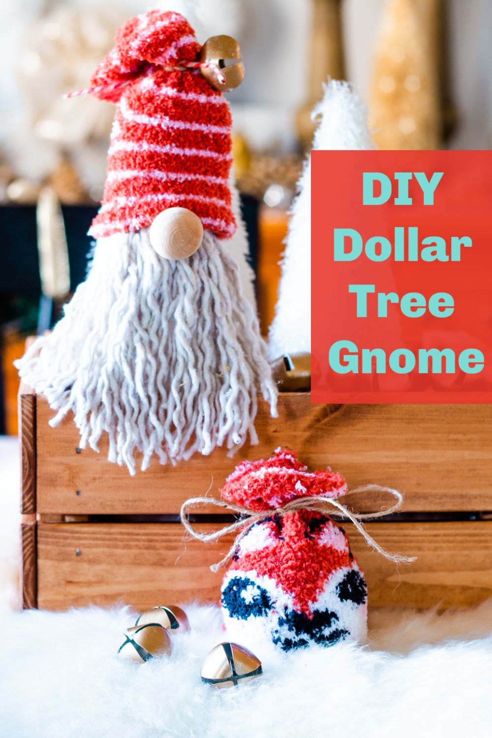 DIY Dollar Tree Gnome for Christmas Christmas