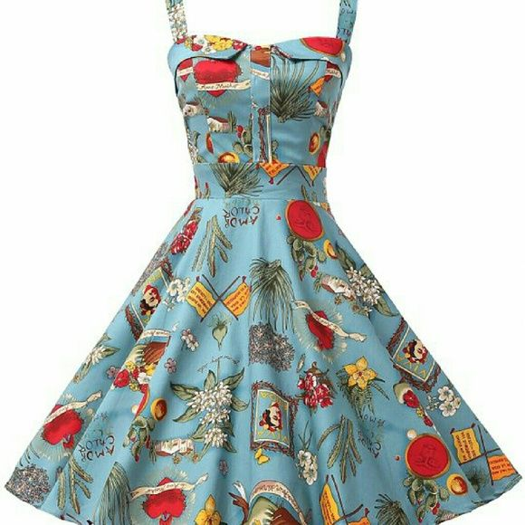 3cfbf0aaab Grace Karin novelty print swing dress Lovely swing dress with Frida Kahlo  theme print, has