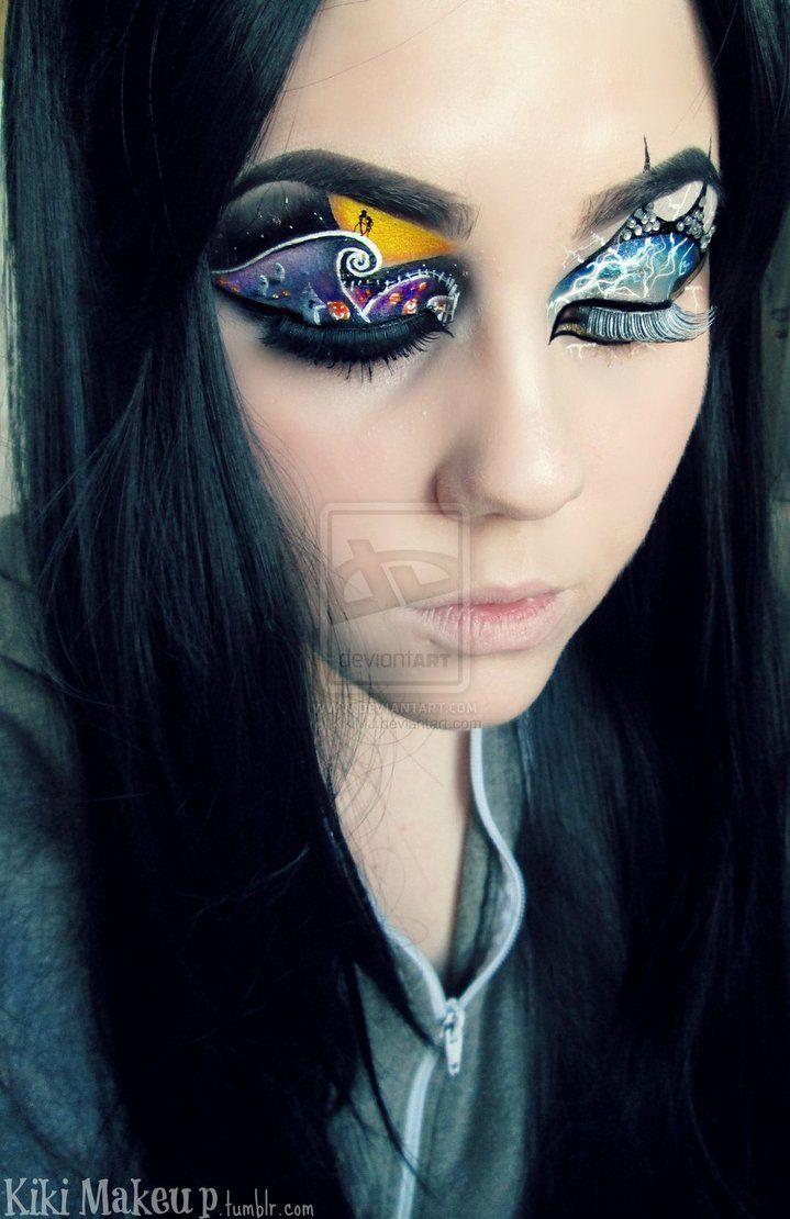 The Nightmare Before Christmas eye make up art by KikiMJ | Eye Art ...