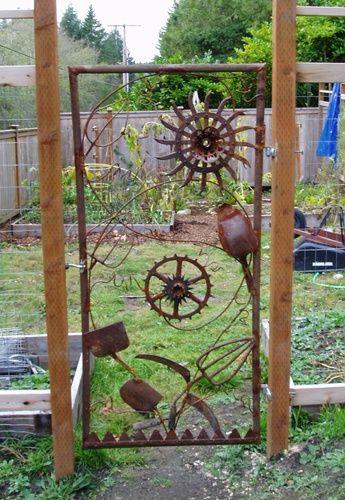 Bapatom S Metalworks Portfolio Metal Garden Gates Metal Garden Art Garden Art