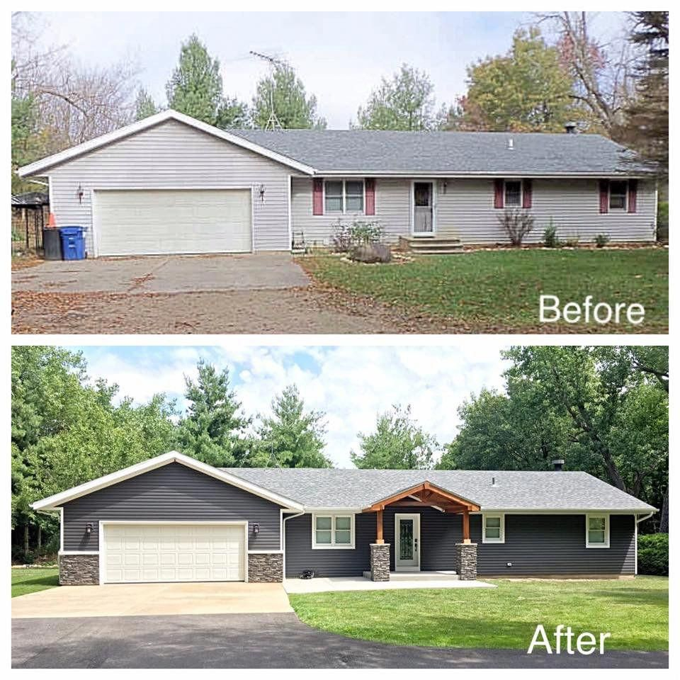 Exterior House Washing Reno: Reno On A Budget: Before And After Photo Of A Home