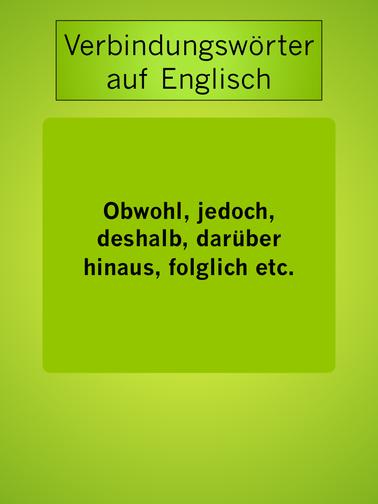 Englische Verbindungswörter: obwohl, jedoch, folglich #learning