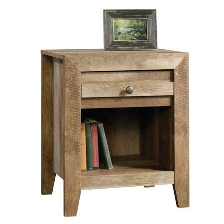 Best Craftsman Oak Finished Nightstand Drawer With Metal 400 x 300