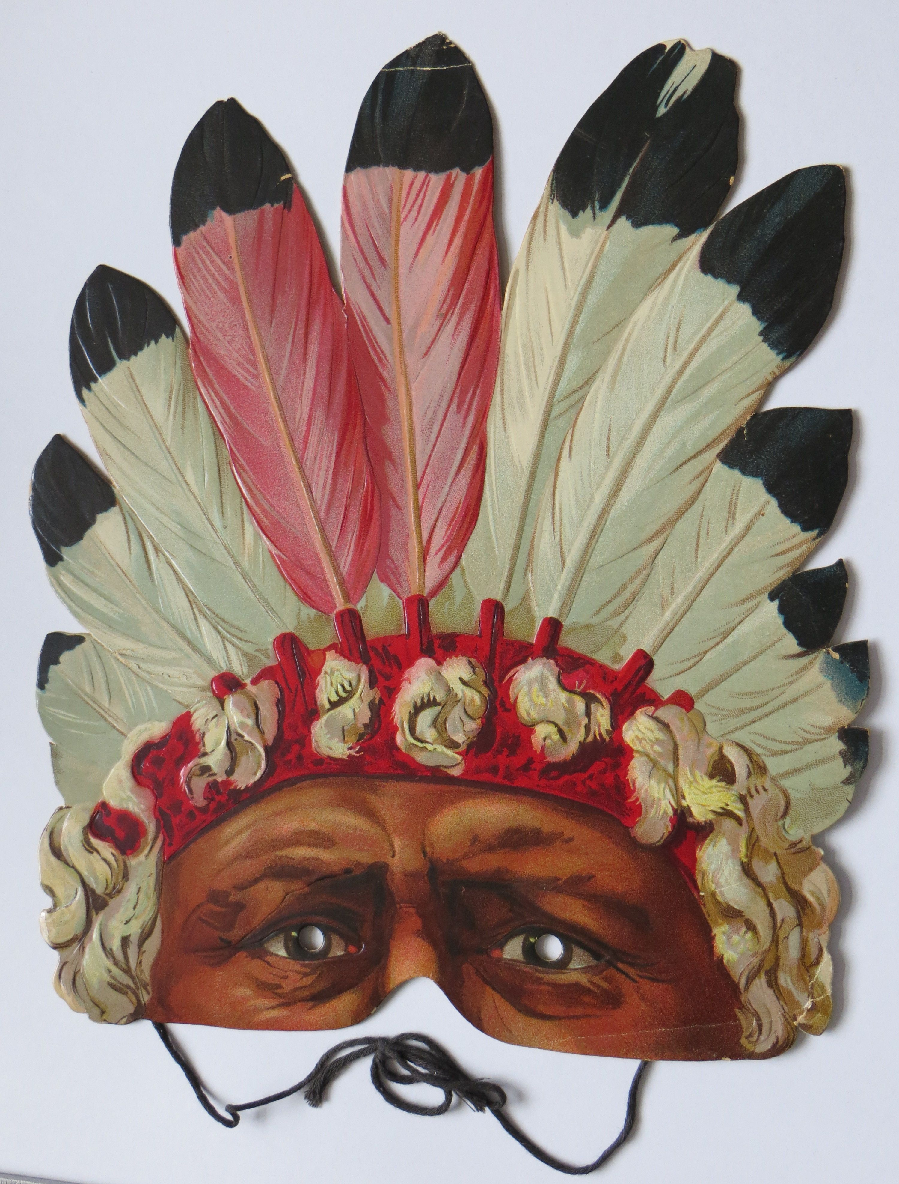 Indian Chief Sitting Bull Vintage Paper Mask