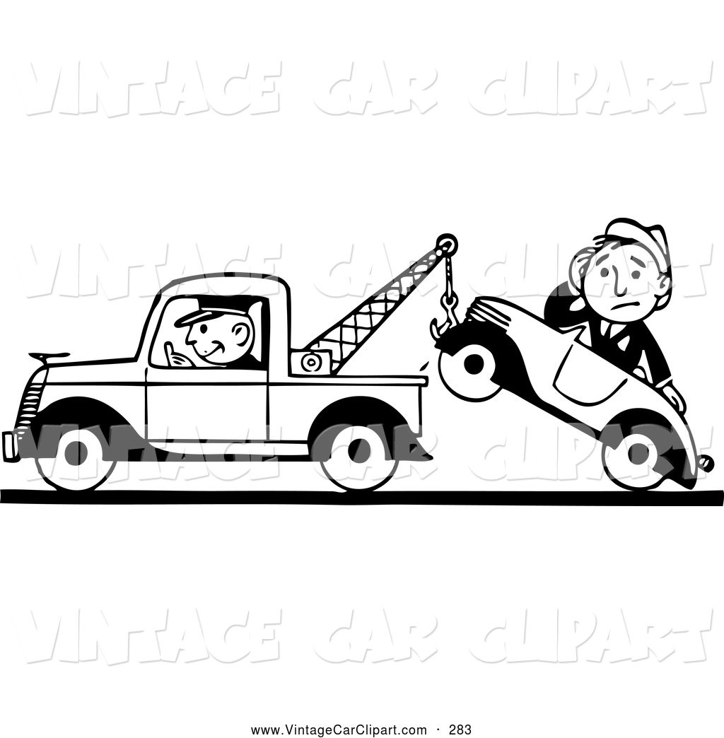 Old Truck Black And White Clipart Tow Truck Clip Art Free Vector Clipart