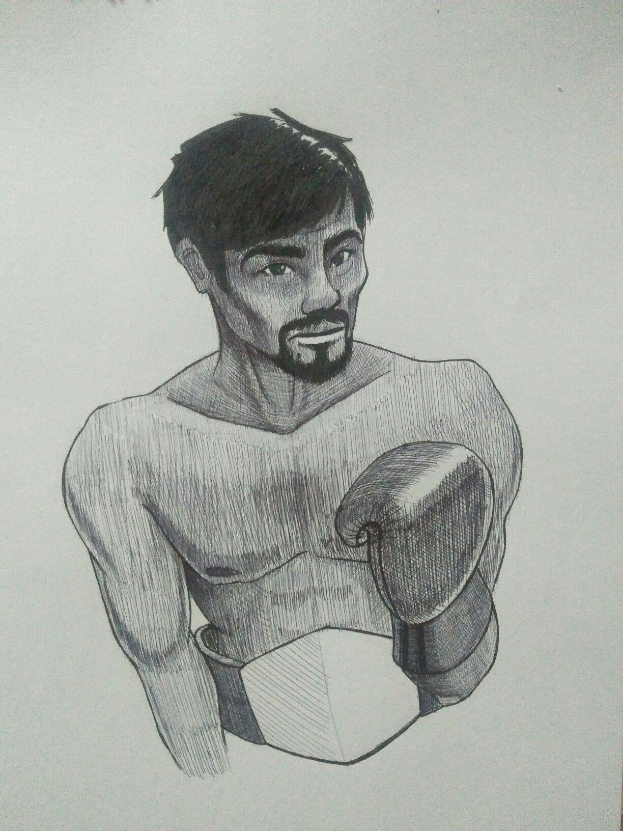 "Pacquiao  24/""x36/"" Canvas Art Manny-PacMan"