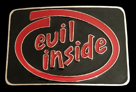 Evil Inside Wicked Devilish Devil Belt Buckle #evil #evilinside #devil #evilbeltbuckle #evilinsidebeltbuckle #coolbucklesa #buckles #beltbuckle #buckle