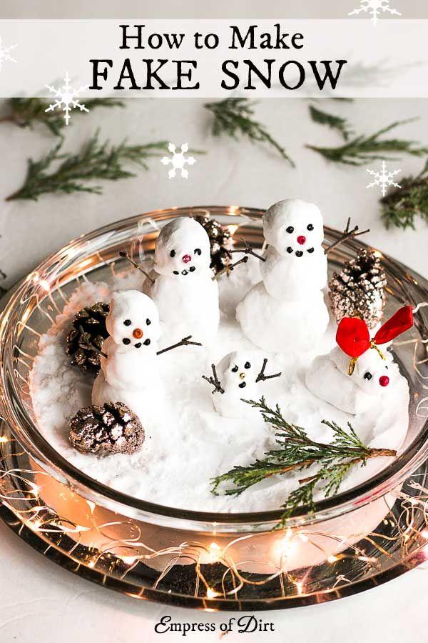 6 Craft Recipes To Make Fake Snow Snow Crafts Snow Recipe Fake