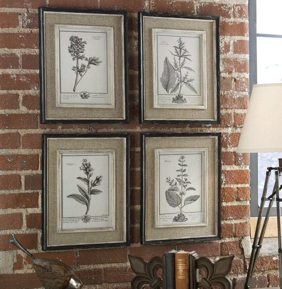 Botanical casual grey study framed wall art decor flower print