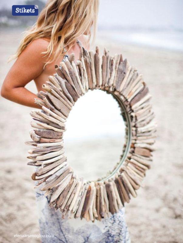 Decoraci n con motivos de playa ideas para tu casa for Decoracion con espejos cuadrados