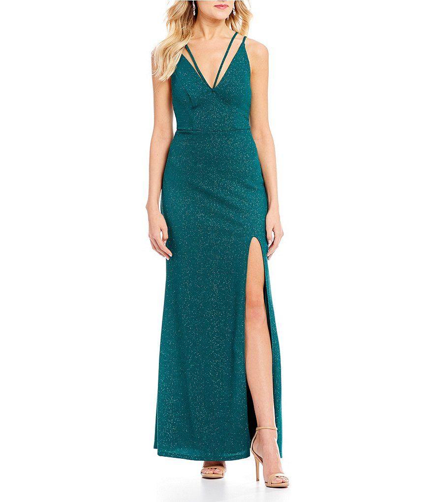 Jodi kristopher strappy glitter knit long dress shophere kids zone
