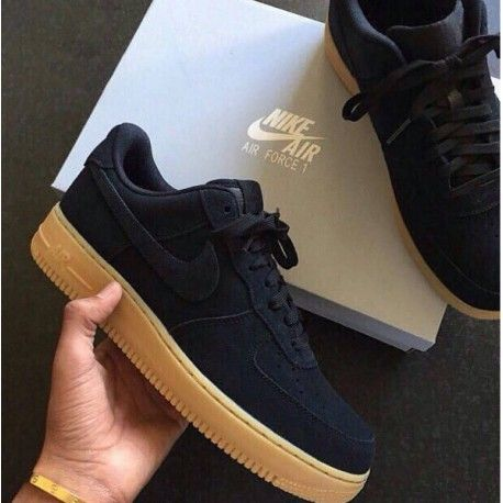 ºNike Air Force One Black Gamuza º | Zapatos nike ...