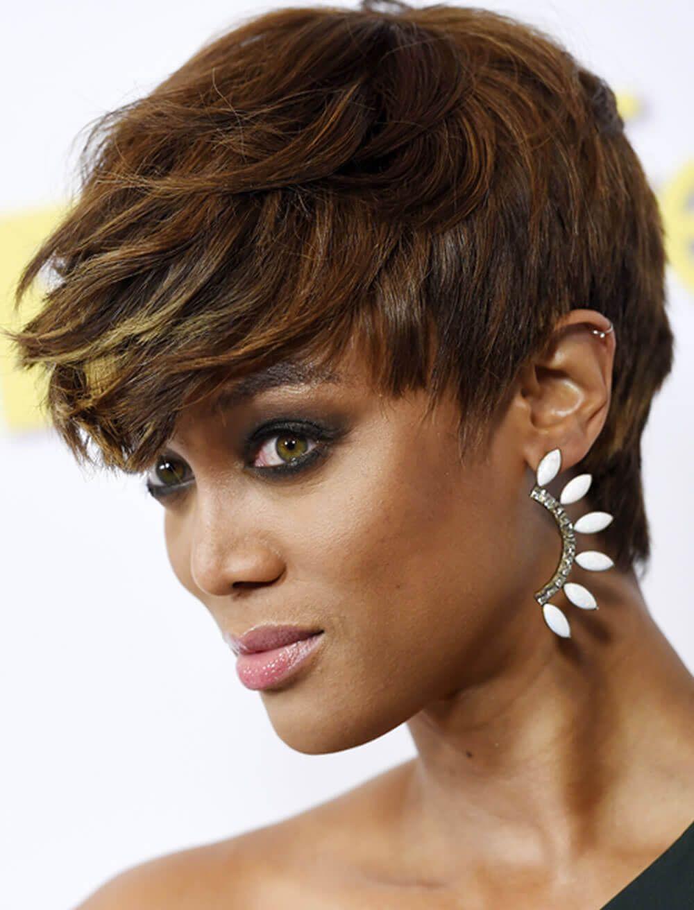 Braune kurzhaarfrisuren kurze frisuren pinterest hair black