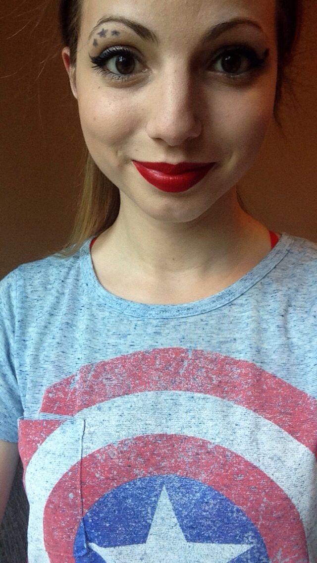4th of July makeup fun