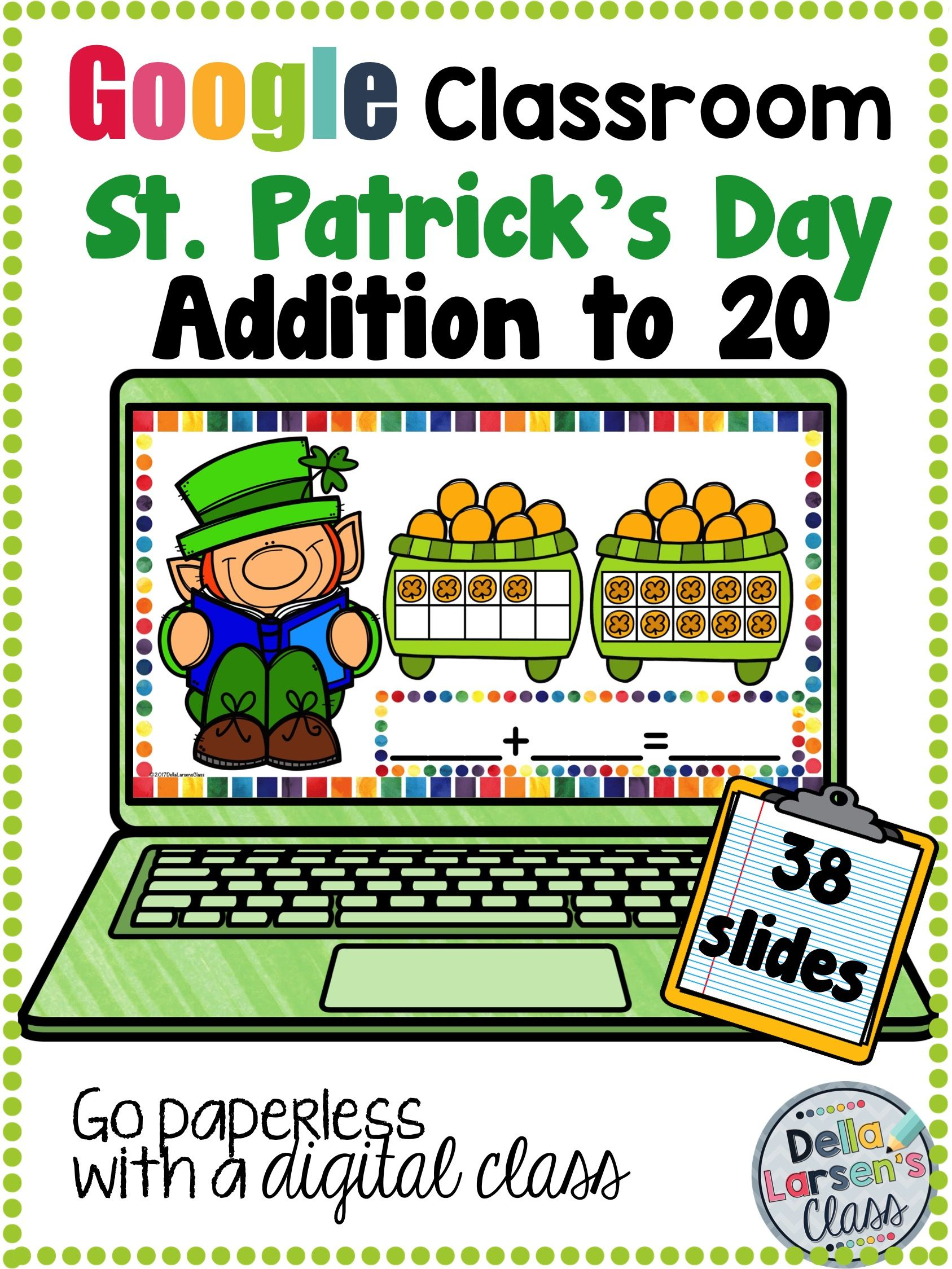 Classroom St Patrick S Day Addition To 20 With Ten