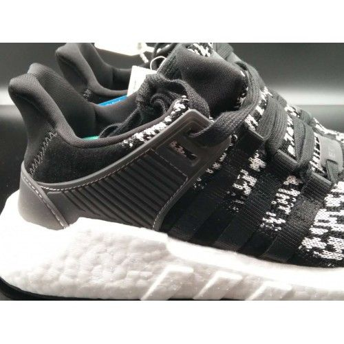 separation shoes 4fd42 232d7 adidas EQT Support 93 17 Core Black Core Black Kanyesko Hvid BZ0584 Til Salg