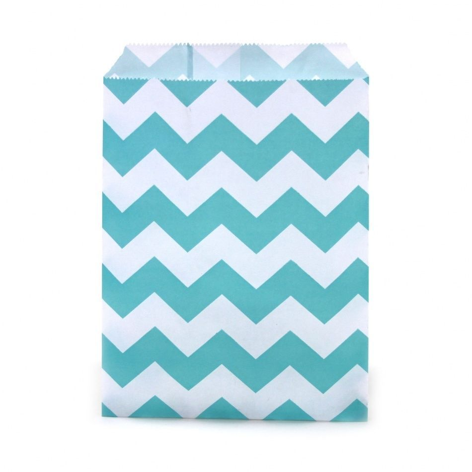 NEW PARTY FAVOR BAGS BY DRESS MY CUPCAKE DIAMOND BLUE CHEVRON DESIGN ...