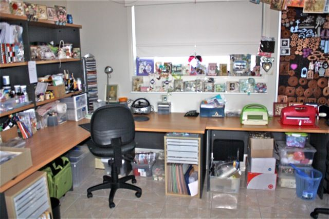 My Hubby calls this my Studio. - Scrapbook.com