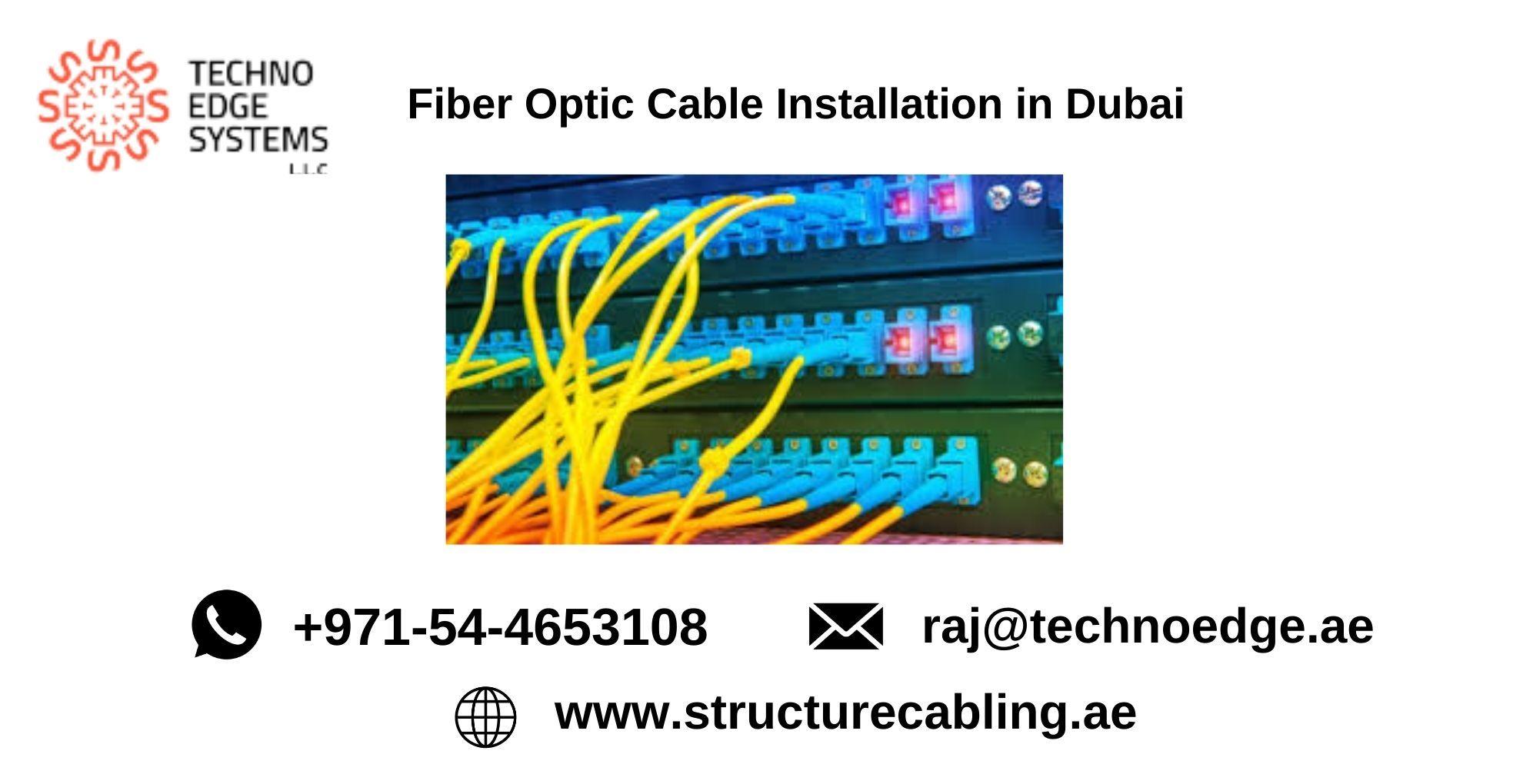 Fiber Optic Cabling in Dubai Fiber Optic Cable
