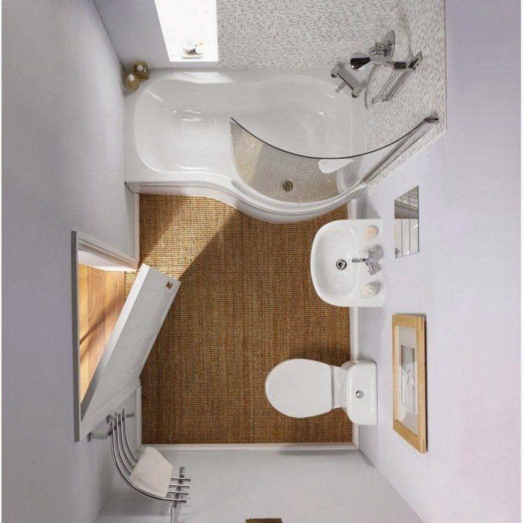 Petite salle de bains avec baignoire douche - 27 idées sympas Tiny