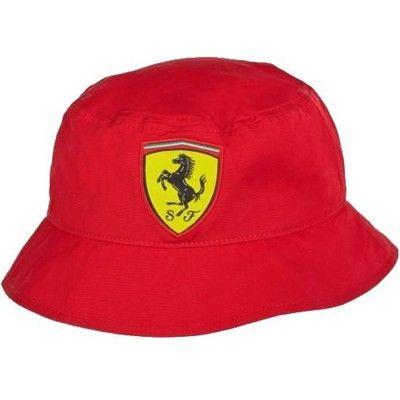 6e457eb0b61 Ferrari Bucket Hat - Red