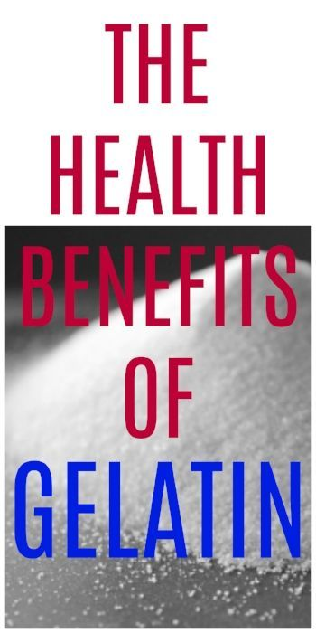 Health Benefits of Gelatin Did you know that there are so many health benefits of gelatin? I recommend that everyone include gelatin in their diet. Everyone. The health benefits of gelatin include improved gut health, skin health, nail health and so much more. But the quality of the gelatin you use is extremely important. Keep reading to learn what kind of g