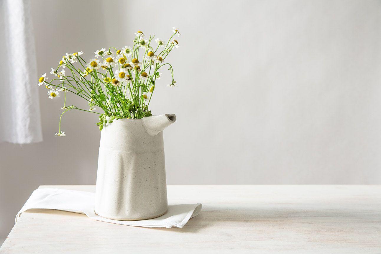 ceramic vase white flower pot decorative ceramic vase modern  - ceramic vase white flower pot decorative ceramic vase modern flower vaseminimalist milk jarwhite texture carafe small serving pitcher