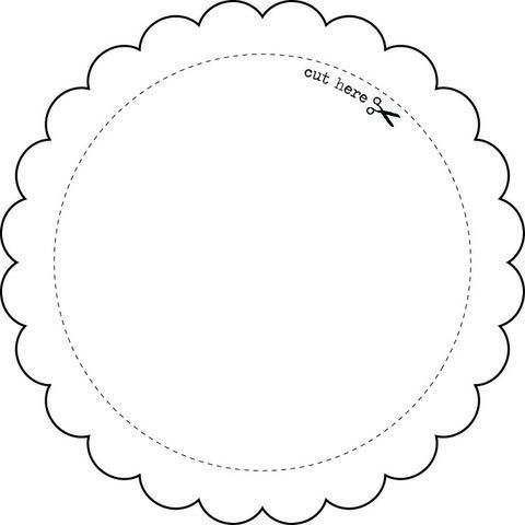 Templates  Round Frame  Craft Ideas    Template