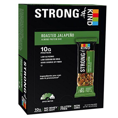 Kind Strong & Kind Roasted Jalapeno Bar (12x1.6 OZ)