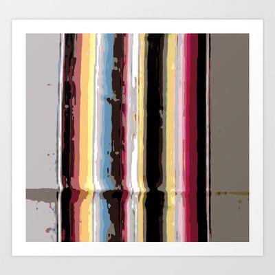 Dark serape Art Print by Deb Haugen - $18.00