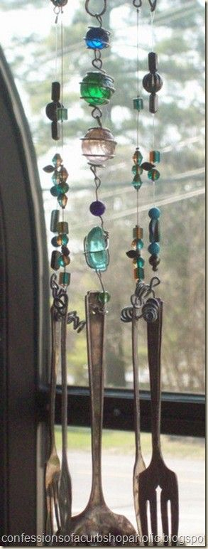 another variation on the silverware wind chime idea