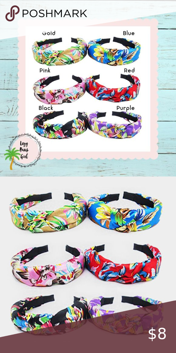 Tropical Pattern Knot Headbands 6 Colors Boutique In 2020 Knot Headband Tropical Pattern Headbands