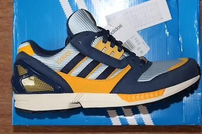 18b072917b1e7 Adidas ZX 8000 TORSION YELLOW PURPLE vintage us 9 1 2