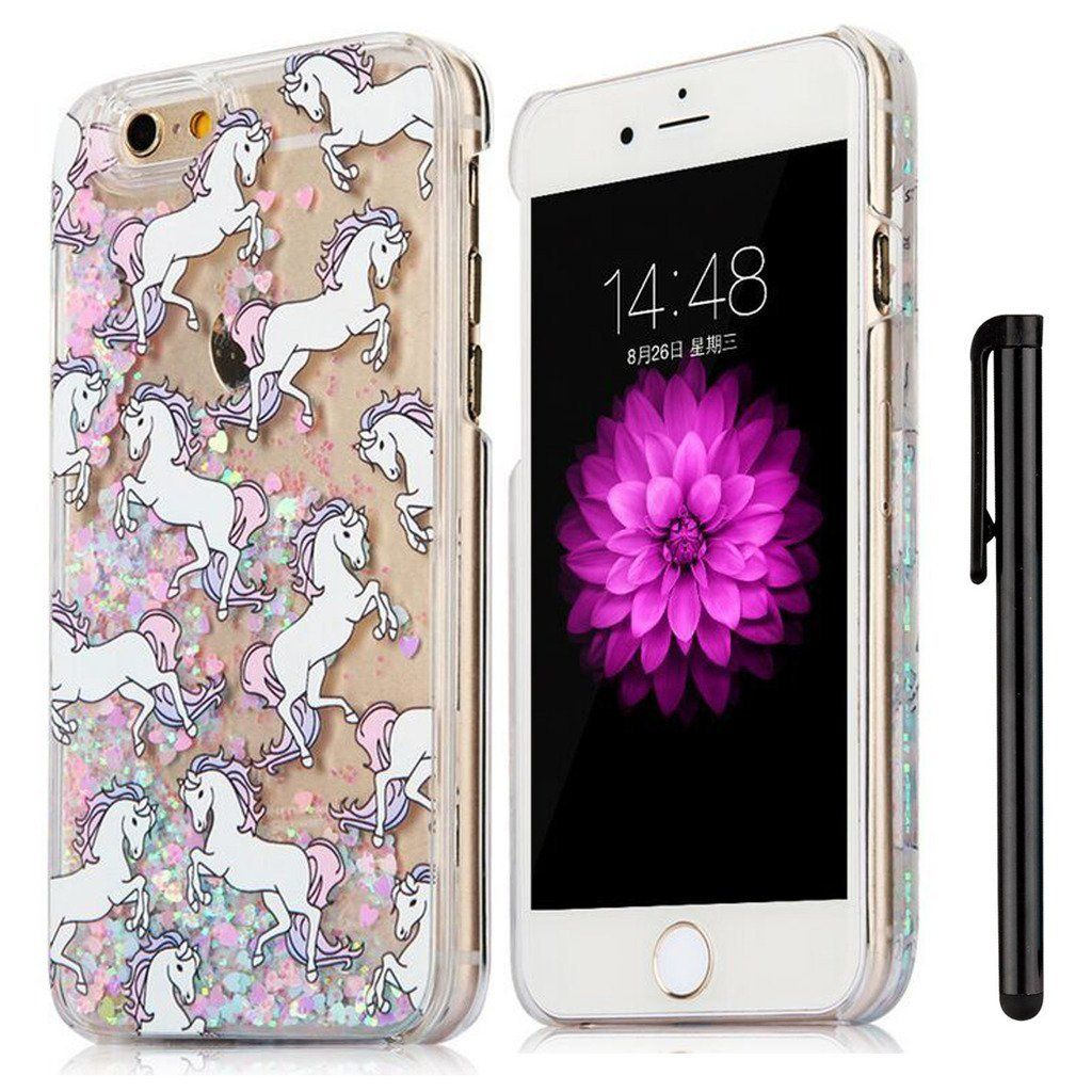 newest 1bf28 c4f9c KAWOO iPhone 5c Cover,Cartoon Unicorn Horse 3D Liquid: Amazon.co.uk ...